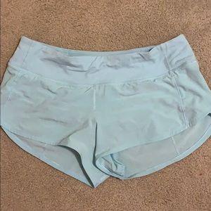 baby blue lulu lemon running shorts